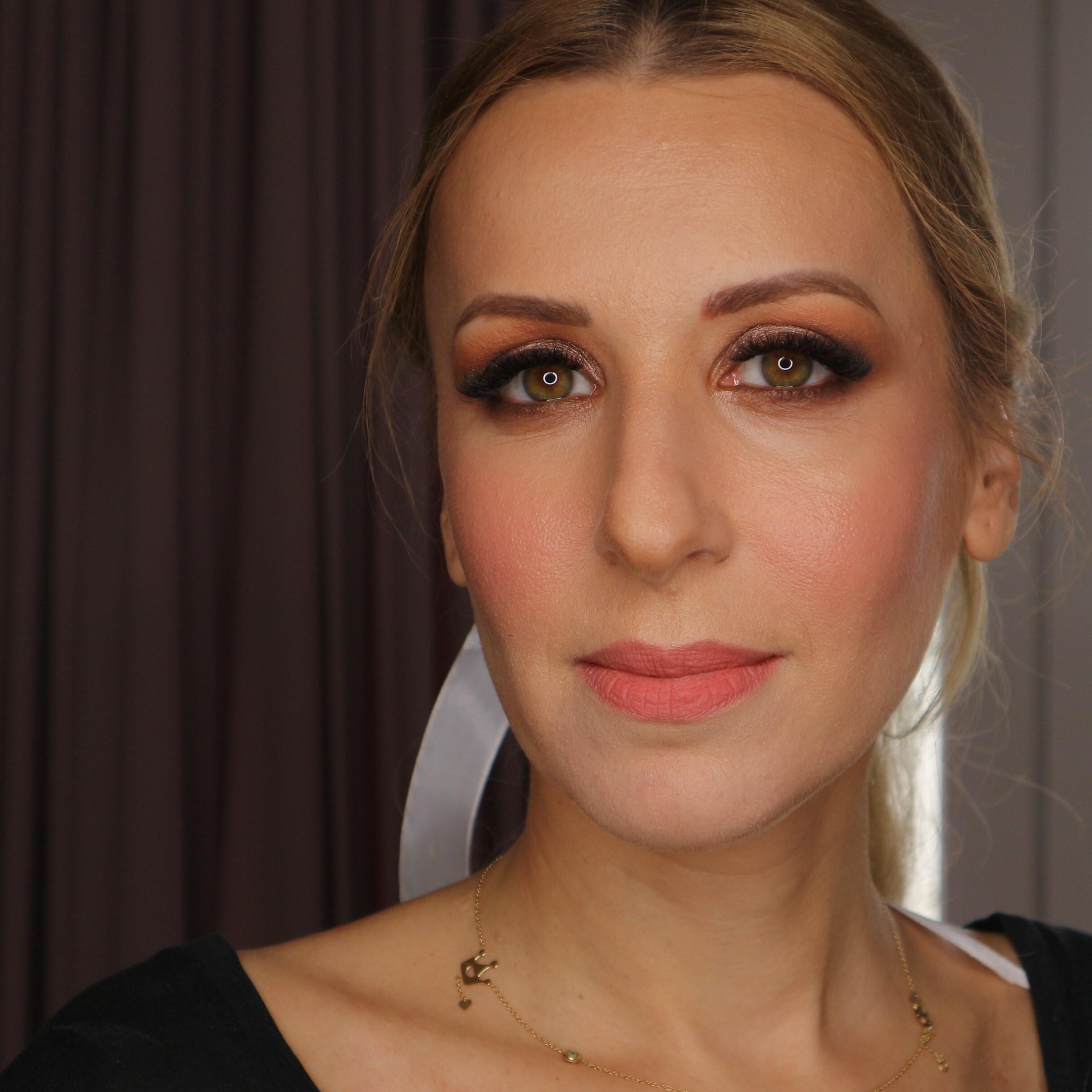 beauty makeup matte peach lipstick